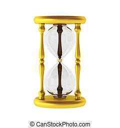 3d, render, di, dorato, sandwatch