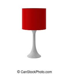 3d, render, di, moderno, lampada