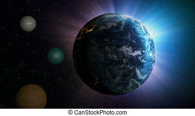 3D Render earth globe with world map