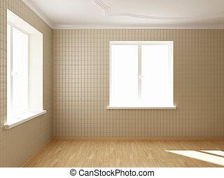 render empty interior