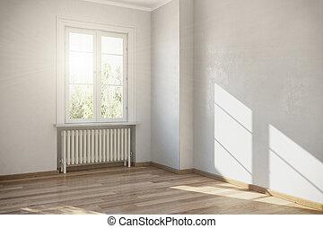 3d render - empty room - apartment