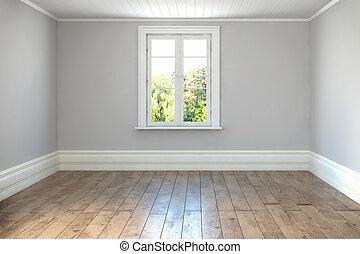 3d render - empty scandinavian room