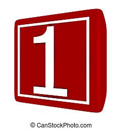 3d Render Font Set 1 Number 1