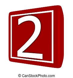 3d Render Font Set 1 Number 2
