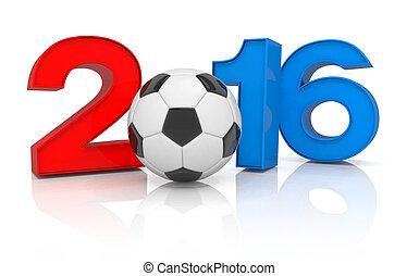 3d render - football 2016