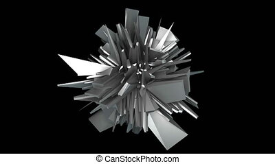 3d render fractal object in space, abstract modern...
