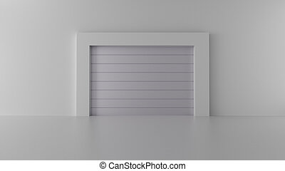 3d render gates in a bright room