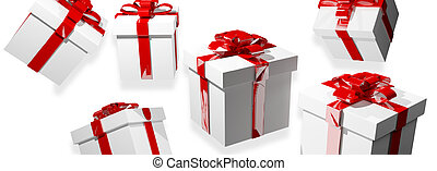 3d render gifts. christmas gift box