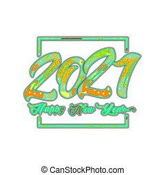 3d render illustration, Beautiful Design for 2021