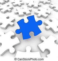 Puzzle Pieces Concept