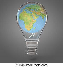 3d render lamp world