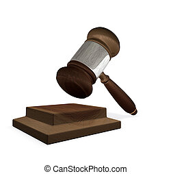 3d render magistrates gavel and block - 3d render of a gavel...