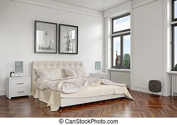 3d render - modern bedroom