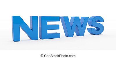 3d render - news - blue