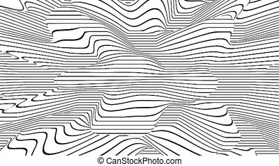 3D Render noisy surface with abstract black and white ...