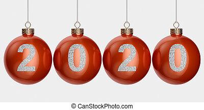 2020 christmas ball isolated