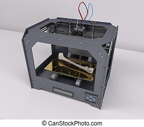 3 Dimensional  Printer - 3D Render of 3 Dimensional  Printer