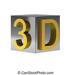3d render of 3d sign