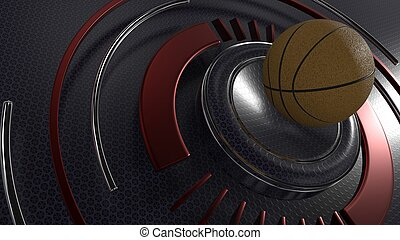 Basketball sports background