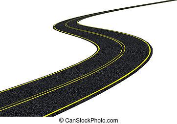 3D render of a blacktop tarmac road