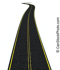 blacktop tarmac road - 3D render of a blacktop tarmac road