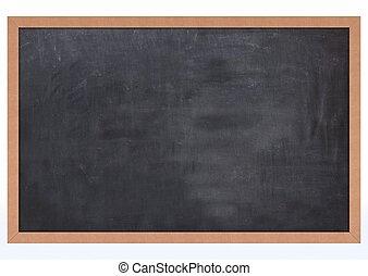Blank Chalk Board - 3D Render of a Blank Chalk Board