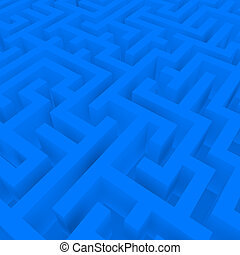 3d Render of a Blue Maze