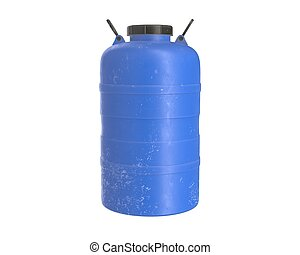 3d render of a blue Water Barrel on white background
