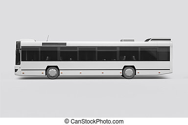 3D render of a bus on a white background