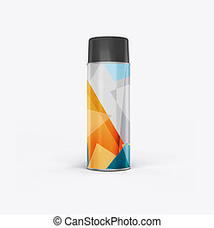 3d render of a can on a white background