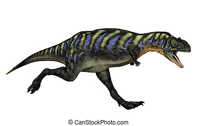 3D render of a Carnivorous Dinosaur