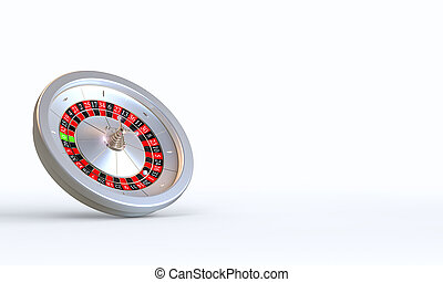 3d render of a casino roulette on a white background.