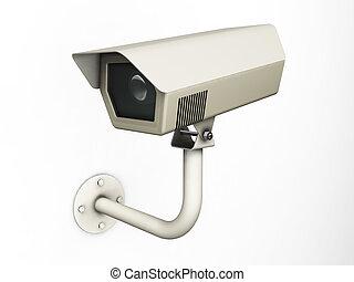 CCTV camera - 3D render of a CCTV camera