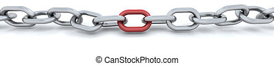 3d render of a chain isolated on white