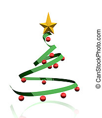 3D render of a Christmas tree