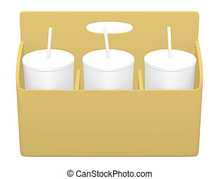 3d Render of a Drink Caddy with Dri