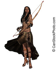 Fantasy Action Figure - 3d render of a Fantasy Action Figure