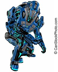 Futuristic soldier - 3d render of a Futuristic soldier