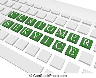 3d Render of a Keyboard Spelling Out Customer Service