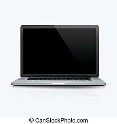 3D render of a laptop on a white background