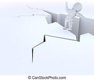 man on a cliff edge