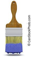 3d render of a paint brush