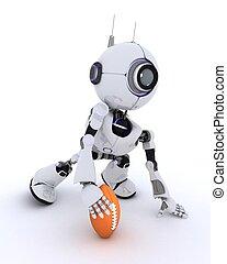 Robot playing American Football
