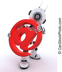 Robot with email @ sign