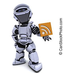 Robot with RSS symbol