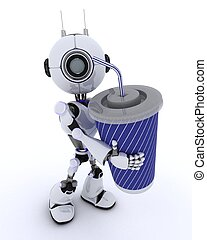 Robot with soda