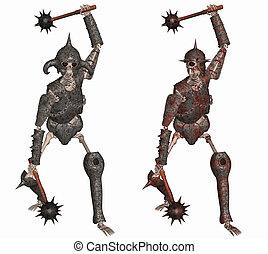 Skeleton Warrior - 3d render of a Skeleton Warrior