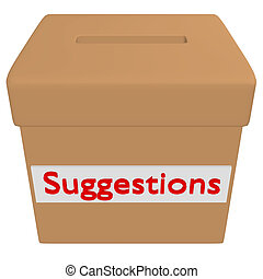3d Render of a Suggestion Box