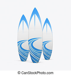 3D render of a surfboard on a white background