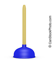 3d Render of a Toilet Plunger